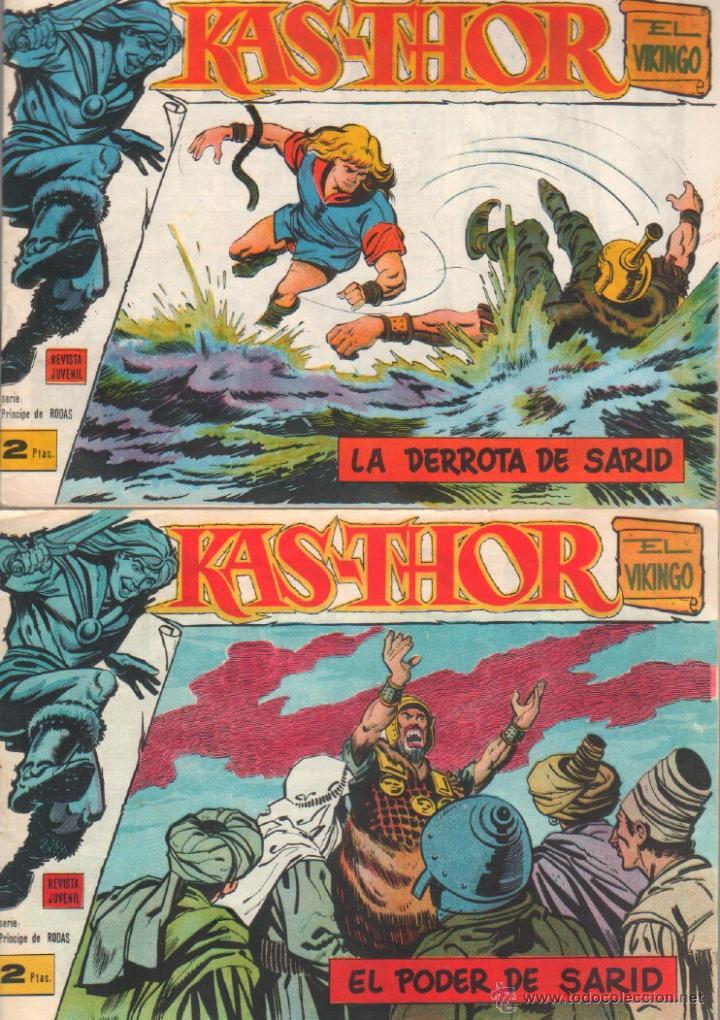 Tebeos: KAS-THOR KASTHOR EL VIKINGO ORIGINAL 1963 COMPLETA MUY BUEN ESTADO - D.LAWRENCE -1 A 62 VER PORTADAS - Foto 16 - 50295198