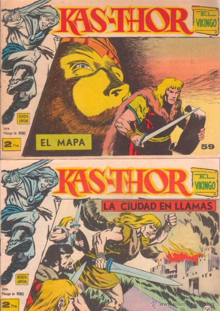 Tebeos: KAS-THOR KASTHOR EL VIKINGO ORIGINAL 1963 COMPLETA MUY BUEN ESTADO - D.LAWRENCE -1 A 62 VER PORTADAS - Foto 24 - 50295198