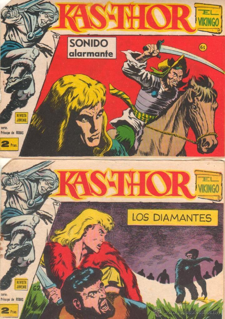 Tebeos: KAS-THOR KASTHOR EL VIKINGO ORIGINAL 1963 COMPLETA MUY BUEN ESTADO - D.LAWRENCE -1 A 62 VER PORTADAS - Foto 26 - 50295198