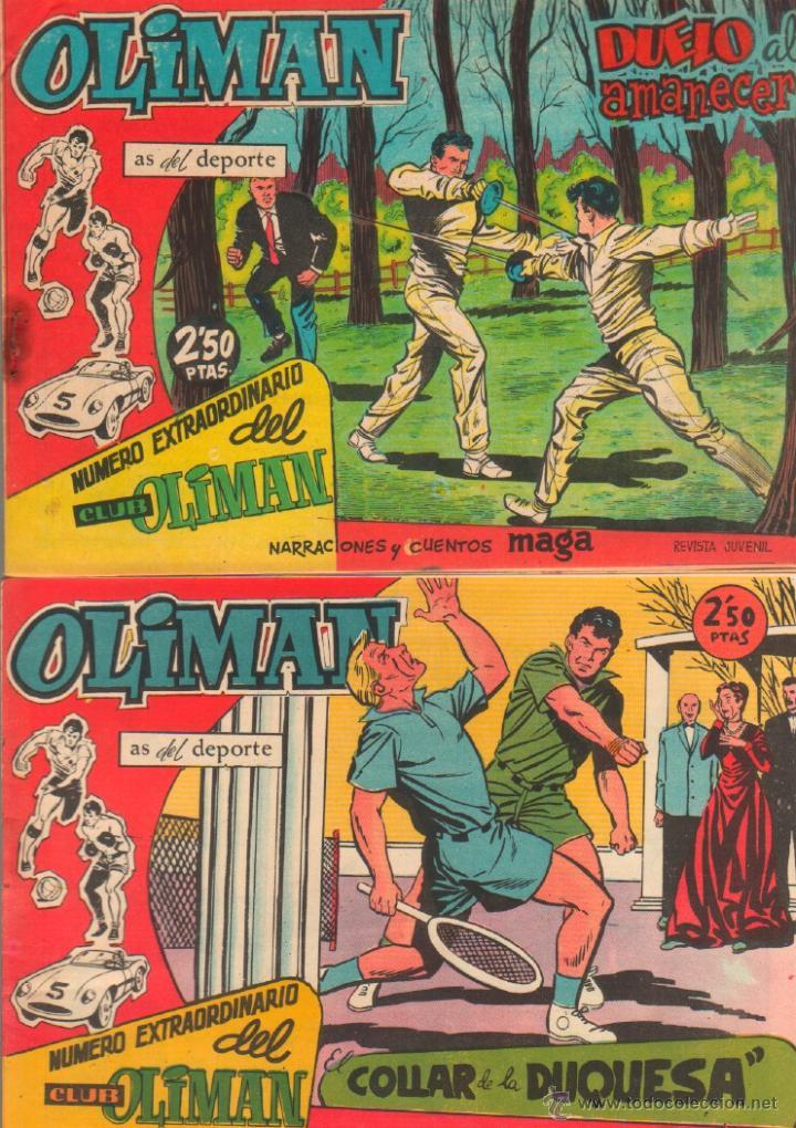 NUMERO EXTRAORDINARIO, EXTRA DEL CLUB OLIMAN ORIGINAL 1963 - 14,15,16,17,20 SIN ABRIR, Y EL 23 (Tebeos y Comics - Maga - Oliman)