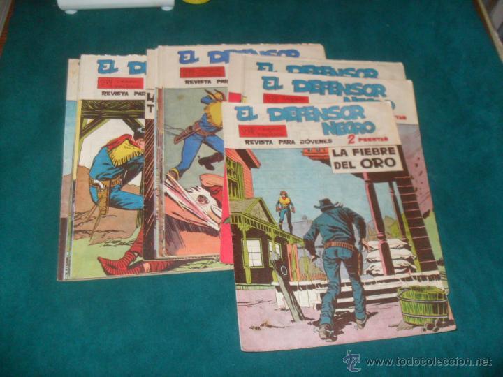 EL DEFENSOR NEGRO. NºS 21 AL 40 AMBOS INCLUSIVE. GASTOS INCLUIDOS (Tebeos y Comics - Maga - Otros)