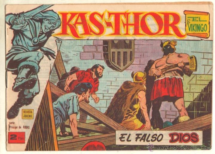 Tebeos: KAS-THOR KASTHOR EL VIKINGO ORIGINAL 1963 COMPLETA MUY BUEN ESTADO - D.LAWRENCE -1 A 62 VER PORTADAS - Foto 29 - 50295198