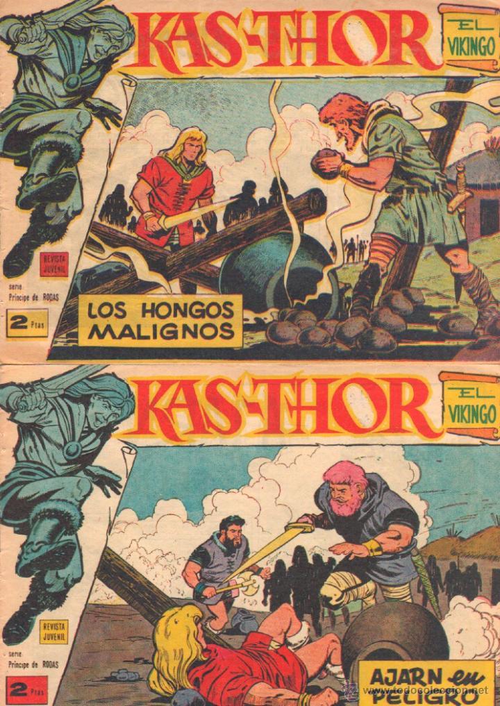 Tebeos: KAS-THOR KASTHOR EL VIKINGO ORIGINAL 1963 COMPLETA MUY BUEN ESTADO - D.LAWRENCE -1 A 62 VER PORTADAS - Foto 31 - 50295198