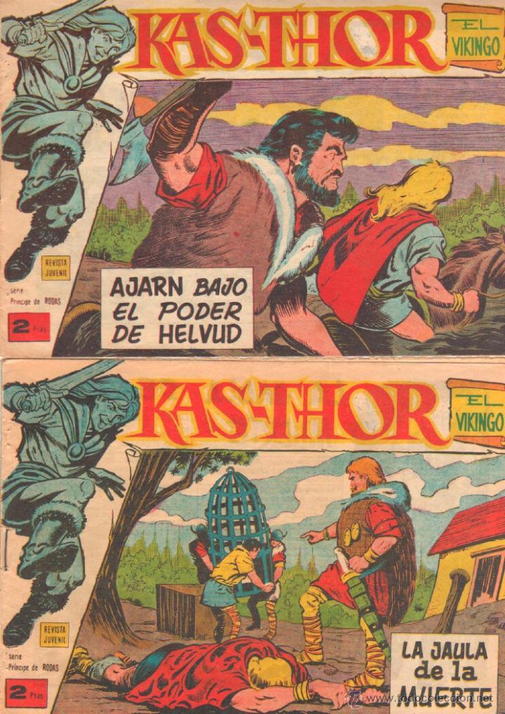 Tebeos: KAS-THOR KASTHOR EL VIKINGO ORIGINAL 1963 COMPLETA MUY BUEN ESTADO - D.LAWRENCE -1 A 62 VER PORTADAS - Foto 32 - 50295198