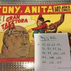 Tebeos: LOTE TONY Y ANITA. ORIGINALES.. Lote 50941282