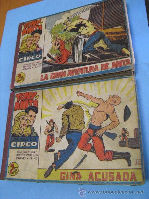 TONI Y ANITA 2º, FALTA DEL Nº41,ENCUADERNADA EN DOS TOMOS,DE MAGA 1960, BUEN ESTADO,COMPLETA SON 81, (Tebeos y Comics - Maga - Tony y Anita)