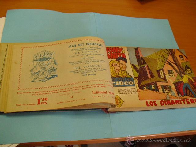 Tebeos: toni y anita 2º, falta del nº41,encuadernada en dos tomos,de maga 1960, buen estado,completa son 81, - Foto 2 - 51399023