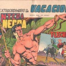 Tebeos: EXTRAORDINARIO DE VACACIONES 1965 PANTERA NEGRA Y FLECHA ROJA - EDI. MAGA ORIGINAL - 52 PÁGINAS. Lote 51653333