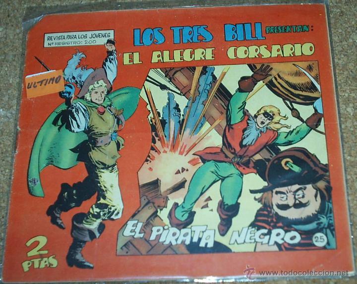 EL ALEGRE CORSARIO Nº 25 ÚLTIMO - MAGA 1964 - ORIGINAL- LEER (Tebeos y Comics - Maga - Otros)