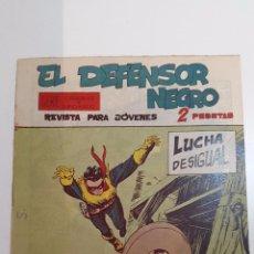 Tebeos: EL DEFENSOR NEGRO NÚM. 20 - LUCHA DESIGUAL. Lote 52398193