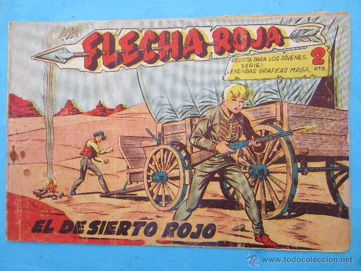 FLECHA ROJA , NUMERO 28 , EDITORIAL MAGA - ORIGINAL (Tebeos y Comics - Maga - Flecha Roja)