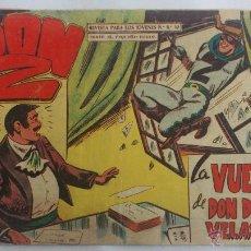 Giornalini: DON Z, Nº 66 LA VUELTA DE DON DIEGO VELASCO, AÑO 1959. Lote 196902101