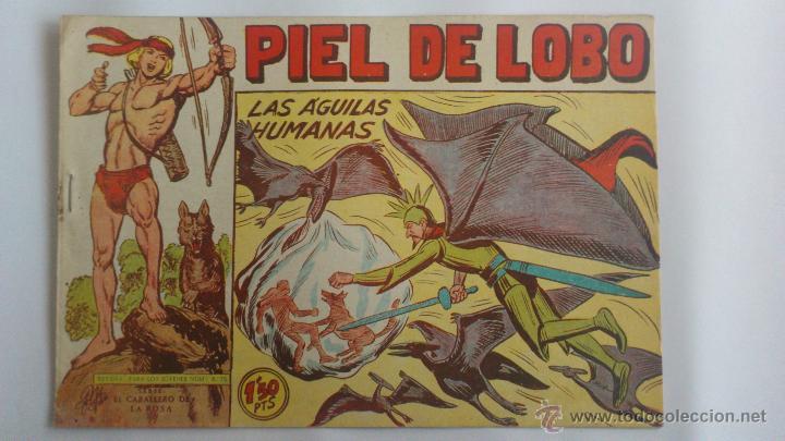 PIEL DE LOBO Nº 88, LAS AGUILAS HUMANAS, SERIE EL CABALLERO DE LA ROSA, AÑO 1959 (Tebeos y Comics - Maga - Piel de Lobo)
