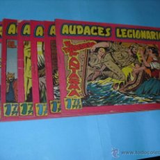 Tebeos: 6 TEBEOS DE AUDACES LEGIONARIOS,DE MAGA 1958 EN BUEN ESTADO,. Lote 52942392