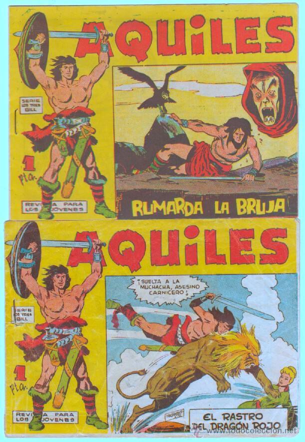 AQUILES ORIGINAL EDI. MAGA 1962 - LOTE NºS - 3,6,10,11,18,29 (Tebeos y Comics - Maga - Otros)