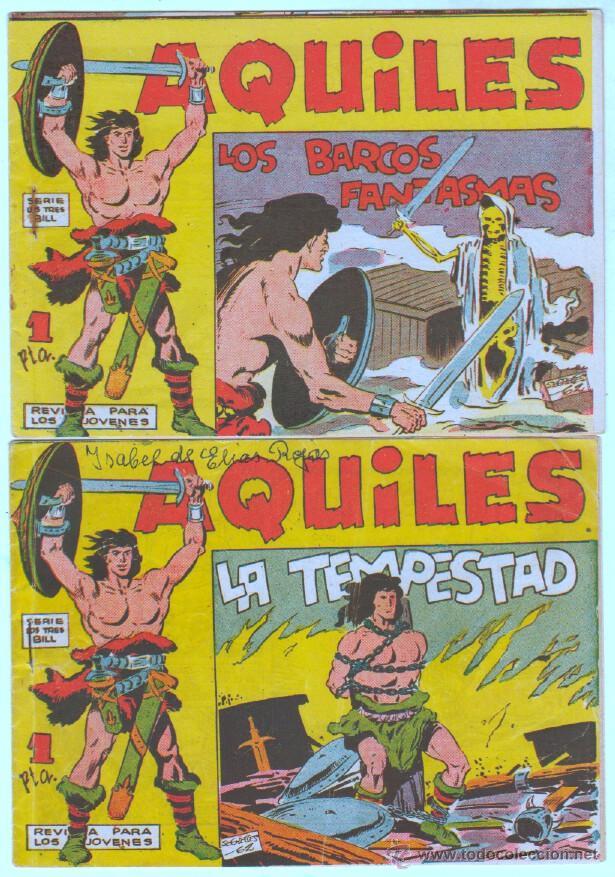 Tebeos: AQUILES ORIGINAL EDI. MAGA 1962 - LOTE NºS - 3,6,10,11,18,29 - Foto 2 - 54597477