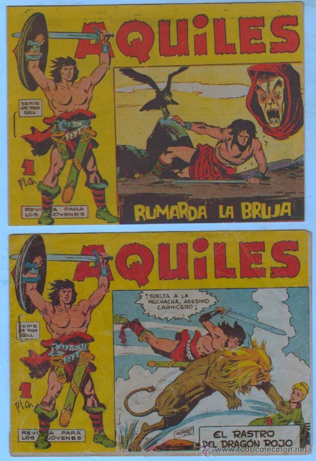 Tebeos: AQUILES ORIGINAL EDI. MAGA 1962 - LOTE NºS - 3,6,10,11,18,29 - Foto 4 - 54597477