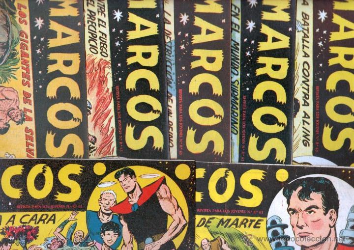 MARCOS ORIGINALES EDI. MAGA 1958 - LOTE 7 NºS - 4 NºS SIN CIRCULAR NI ABRIR, RESTO MUY BIEN (Tebeos y Comics - Maga - Otros)