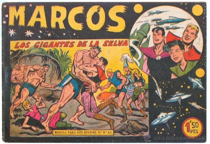Tebeos: MARCOS ORIGINALES EDI. MAGA 1958 - LOTE 7 NºS - 4 Nºs SIN CIRCULAR NI ABRIR, RESTO MUY BIEN - Foto 2 - 54597760