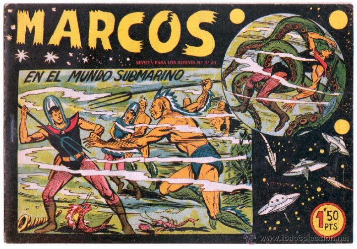 Tebeos: MARCOS ORIGINALES EDI. MAGA 1958 - LOTE 7 NºS - 4 Nºs SIN CIRCULAR NI ABRIR, RESTO MUY BIEN - Foto 6 - 54597760
