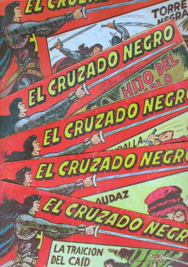 EL CRUZADO NEGRO ORIGINAL LOTE DE 9 TEBEOS - EDI. MAGA 1961 POR MANUEL GAGO, VER IMÁGENES DE TODOS (Tebeos y Comics - Maga - Otros)