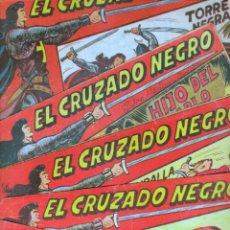 Tebeos: EL CRUZADO NEGRO ORIGINAL LOTE DE 9 TEBEOS - EDI. MAGA 1961 POR MANUEL GAGO, VER IMÁGENES DE TODOS. Lote 54608108