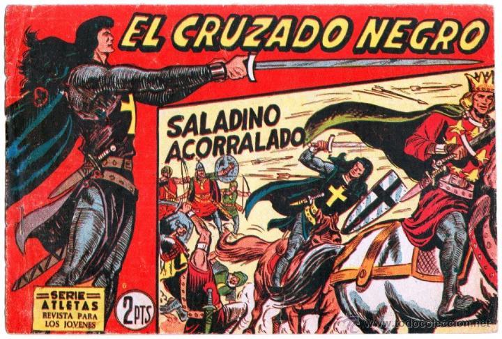 Tebeos: EL CRUZADO NEGRO ORIGINAL LOTE DE 9 TEBEOS - EDI. MAGA 1961 por MANUEL GAGO, VER IMÁGENES DE TODOS - Foto 7 - 54608108