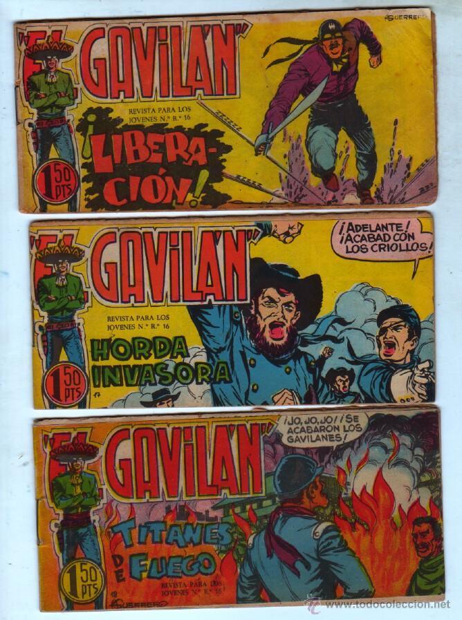 Tebeos: EL GAVILAN ORIGINAL COMPLETA EDI. MAGA 1959 - 1 AL 25 - Foto 5 - 54637153