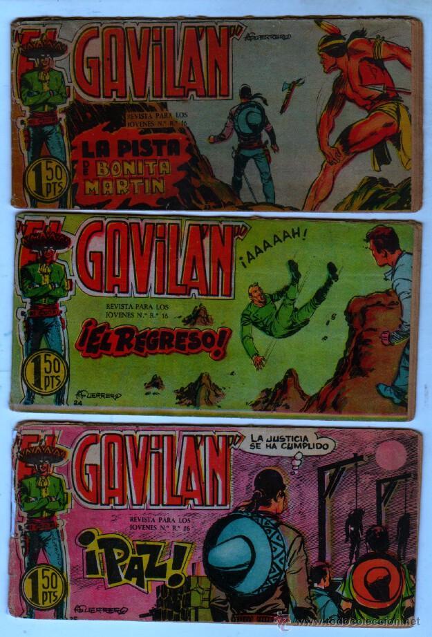 Tebeos: EL GAVILAN ORIGINAL COMPLETA EDI. MAGA 1959 - 1 AL 25 - Foto 7 - 54637153