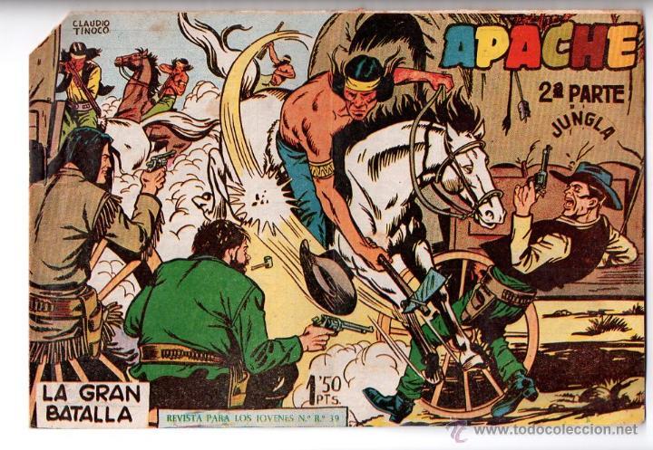 Nº 8 APACHE II. EDITORIAL MAGA 1950-1961. CUADERNOS ORIGINALES (Tebeos y Comics - Maga - Apache)