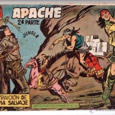Tebeos: Nº 11 APACHE II. EDITORIAL MAGA 1950-1961. CUADERNOS ORIGINALES. Lote 54930774
