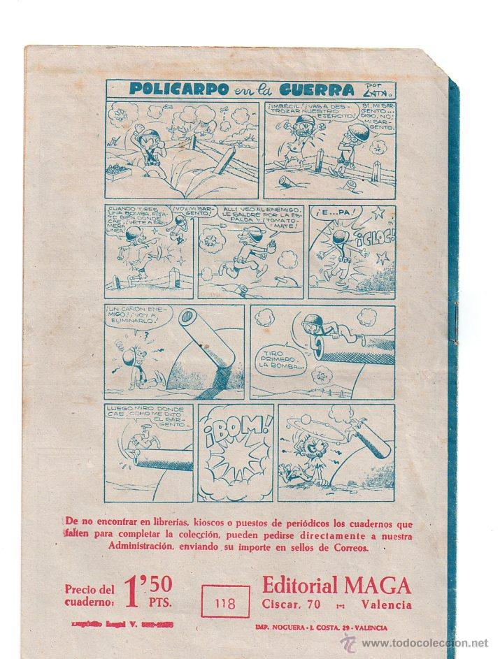 Tebeos: Nº 118 EL PEQUEÑO HEROE. Editorial MAGA 1957-1959. Cuadernos originales - Foto 2 - 54932438