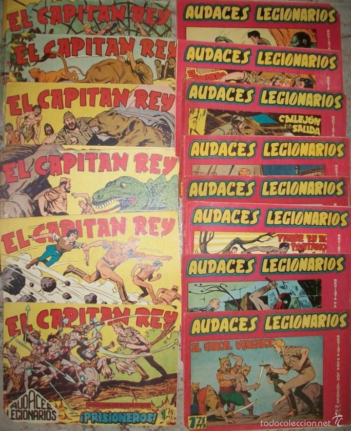 AUDACES LEGIONARIOS (MAGA) ( LOTE DE 11 NUMEROS DIFERENTES) (Tebeos y Comics - Maga - Otros)