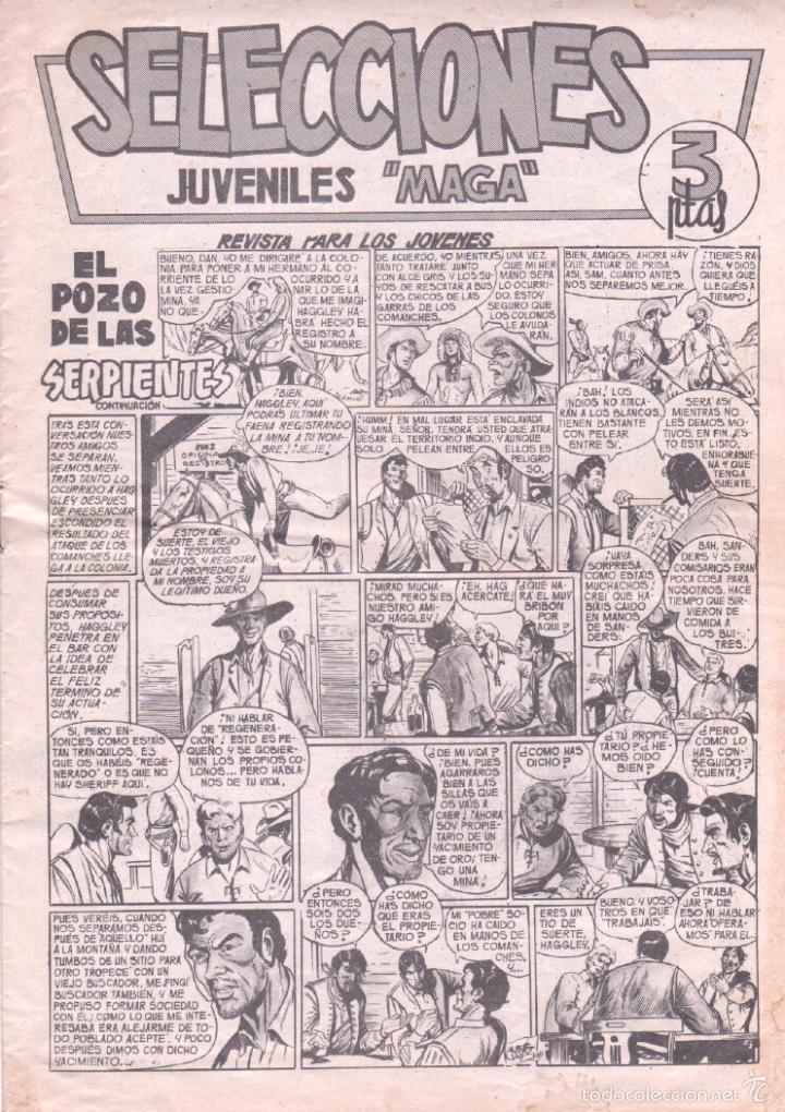 SELECCIONES JUVENILES MAGA Nº 4 ,1961, BALIN, DAN BARRY, PACHO DINAMITA - JOSE ORTIZ- MIGUEL QUESADA (Tebeos y Comics - Maga - Otros)
