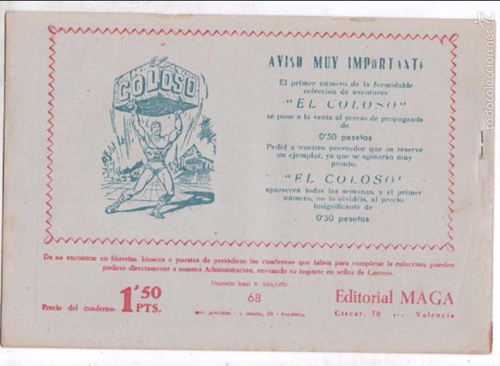 Tebeos: PIEL DE LOBO ORIGINAL Nº 68 EDI. MAGA 1959 - SIN ABRIR, SIN CIRCULAR- MANUEL GAGO - Foto 2 - 56158311