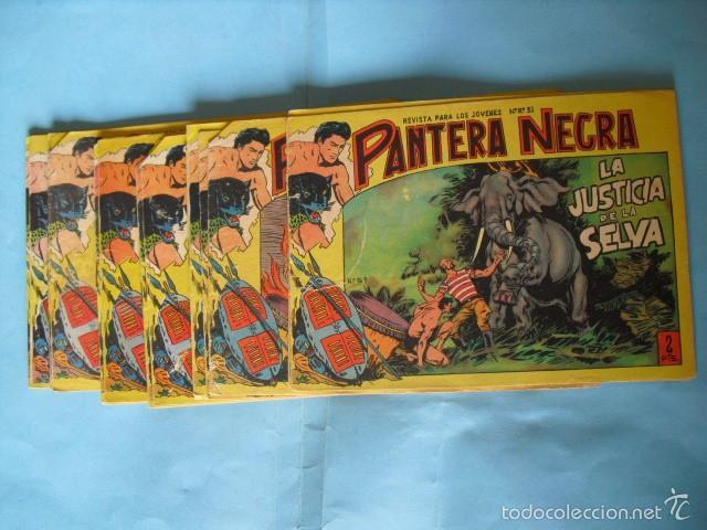 24 TEBEOS DE PANTERA NEGRA, DE 2 PTS, EDITORIAL MAGA 1958. HAY 8 CON PICO CORTADO, (Tebeos y Comics - Maga - Pantera Negra)