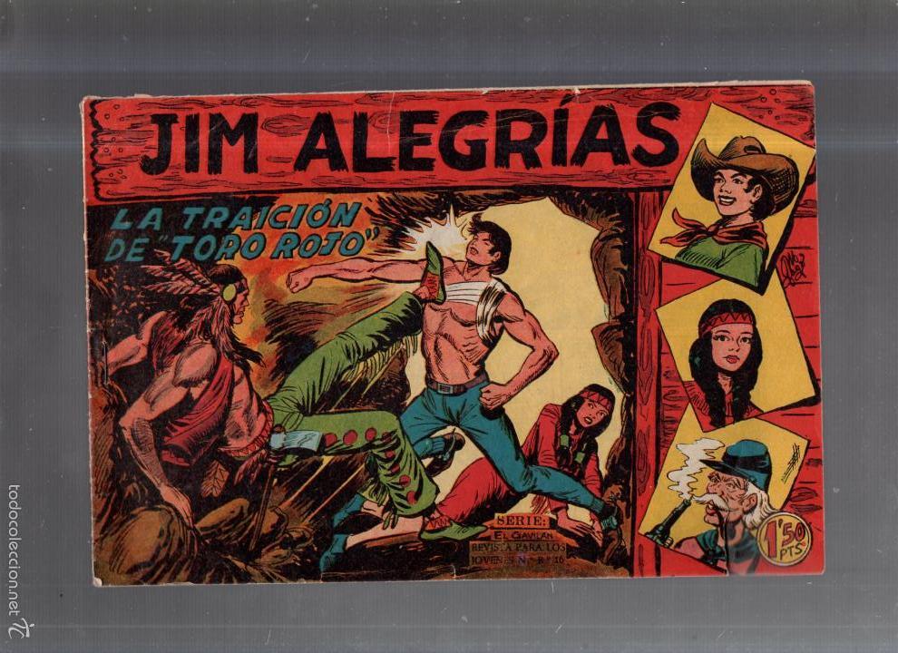 TEBEO. JIM ALEGRIAS. Nº 3. LA TRAICION DE TORO ROJO (Tebeos y Comics - Maga - Otros)