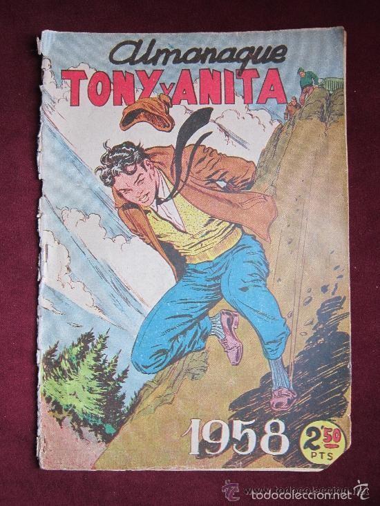 ALMANAQUE TONY Y ANITA. ASES DEL CIRCO 1958. EDITORIAL MAGA ORIGINAL. TEBENI (Tebeos y Comics - Maga - Tony y Anita)