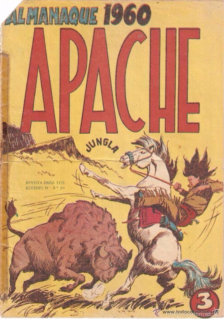 APACHE, ALMANAQUE AÑO 1960 ES ORIGINAL DIBUJANTE L. BERMEJO. EDITORIAL MAGA. (Tebeos y Comics - Maga - Apache)