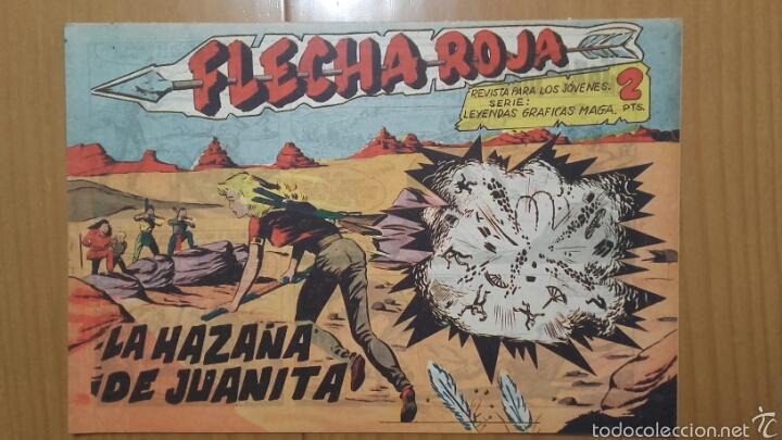 FLECHA ROJA Nº 29 ¡LA HAZAÑA DE JUANITA! ORIGINAL MAGA 1962 (Tebeos y Comics - Maga - Flecha Roja)