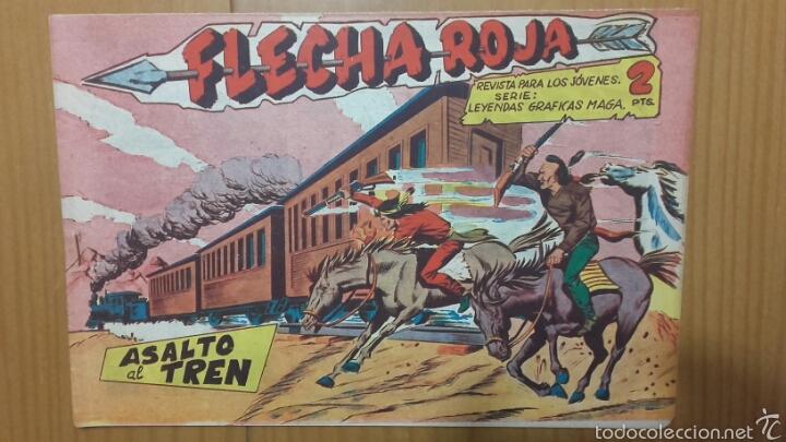 FLECHA ROJA Nº 30 ¡ASALTO AL TREN! ORIGINAL MAGA 1962 (Tebeos y Comics - Maga - Flecha Roja)