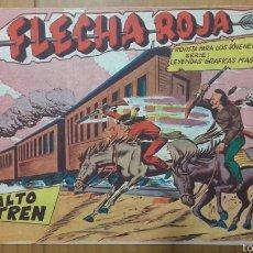 BDs: FLECHA ROJA Nº 30 ¡ASALTO AL TREN! ORIGINAL MAGA 1962. Lote 57514324