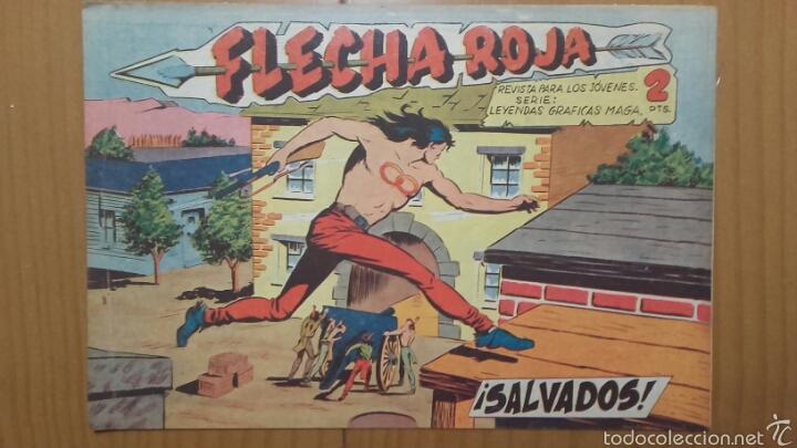 FLECHA ROJA Nº 33 ¡SALVADOS! ORIGINAL MAGA 1962 (Tebeos y Comics - Maga - Flecha Roja)