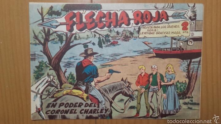 FLECHA ROJA Nº 35 ¡EN PODER DEL CORONEL CHARLEY! ORIGINAL MAGA 1962 (Tebeos y Comics - Maga - Flecha Roja)