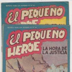 Tebeos: EL PEQUEÑO HÉROE Nº 31 Y 36. MAGA 1956. ¡SIN ABRIR!. Lote 57813205