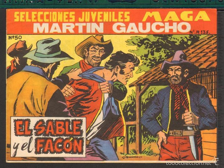TEBEOS-COMICS CANDY - MARTIN GAUCHO - Nº 50 ULTIMO - MAGA- ORIGIINAL 1964 - *UU99 (Tebeos y Comics - Maga - Otros)