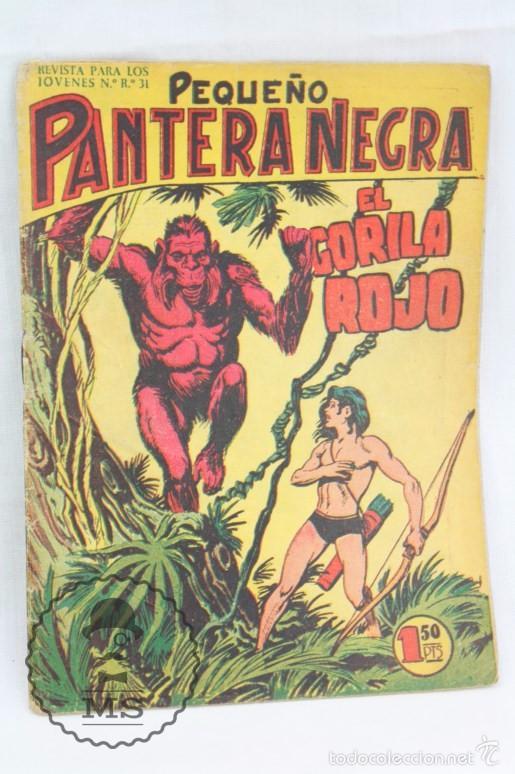 Tebeos: Colección Completa de 70 Cómics Pequeño Pantera Negra. Vertical - Nº 55 al 124 - Ed. Maga, Años 50 - Foto 5 - 57945795