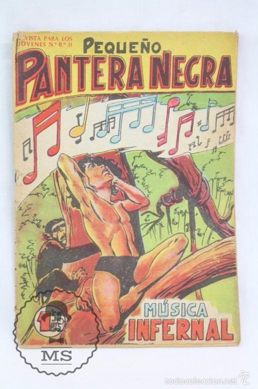 Tebeos: Colección Completa de 70 Cómics Pequeño Pantera Negra. Vertical - Nº 55 al 124 - Ed. Maga, Años 50 - Foto 8 - 57945795
