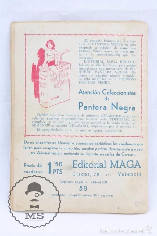 Tebeos: Colección Completa de 70 Cómics Pequeño Pantera Negra. Vertical - Nº 55 al 124 - Ed. Maga, Años 50 - Foto 15 - 57945795