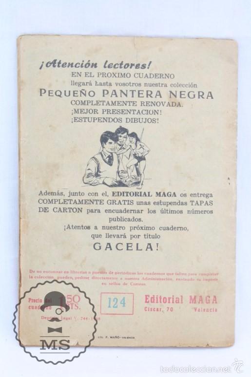 Tebeos: Colección Completa de 70 Cómics Pequeño Pantera Negra. Vertical - Nº 55 al 124 - Ed. Maga, Años 50 - Foto 19 - 57945795